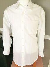 TOMMY HILFIGER MEN'S WHITE DRESS SHIRT REGULAR FIT MSRP $69.5 BRAND NWT