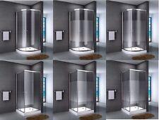 Duschkabine Eckdusche Viertelkreis Duschabtrennung Glas hohe Duschtasse