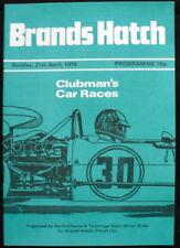 Brands Hatch Clubman del coche de carreras Programa 21 Abr 1974