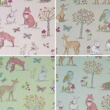 Lifestyle Woodland Animals Foxes Rabbits Wildlife 100% Cotton Fabric 140cm Wide
