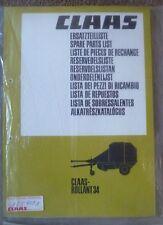 Claas Rundballenpresse Rollant 34 Ersatzteilliste