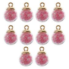 10 Piezas Bolas Encantos de Vidrio Elegante de Multicolores Accesorios de