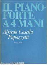Casella: Il Pianoforte a 4 Mani, 5 Pezzi Facili - Ricordi