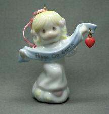 Vintage Precious Moments Peace On Earth Angel Ornament 1998 Pmi Free Usa Ship