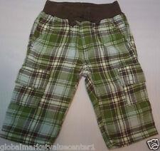 Gymboree Boy's Seasonal Checkered Brown and Green Pants Infant 3-6 Mos NWT