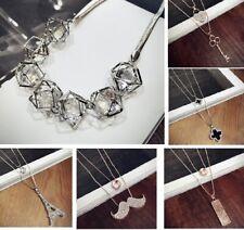 NWT Woman Jewelry Long Necklace - Fashion Gold Tone Eiffel Crystal Leaf JG48