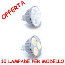 KIT 10 LAMPADE LED 3,6W 38° MR16 12Vdc SOS ALOGENA 35W LUCE CALDA FREDDA NEUTRA