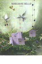 "PUBLICITE  ADVERTISING 2008 MORGANNE BELLO joaillerie bijoux ""un vol de colombe"""
