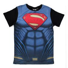DC Comics Superman Kinder Kids T-Shirt Super Costume Uniform Kostüm Anzug Print