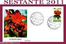 ITALIA FDC ROMA, FIERA DI GENOVA, EUROFLORA 1991, FIORI, ANNULLO MATERA, E15