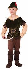 Archer Woodsman Child Costume Sherwood Robin Hood Forest Medieval Green sm-lg