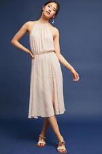 NWT Anthropologie Blushed Metallic Halter Dress PlentyByTracy Reese L Pink $168
