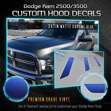 Hood Vent Decal Insert For 2010-2018 Dodge RAM 2500 3500 HD - Satin Matte Chrome