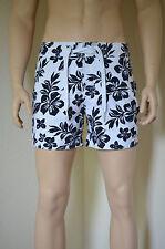 Abercrombie & Fitch estanque montaГ ± oso Swim Board Shorts Blanco En Azul Marino Floral Xl RRP £ 64