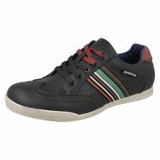 Lambretta HARRISON men's Black Informal Cordones Zapatos UK 6 to 8 (R6A)