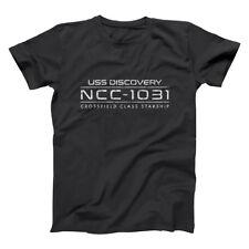Ncc-1031  Star Geek Funny Discovery Space Ship Black Basic Men's T-Shirt