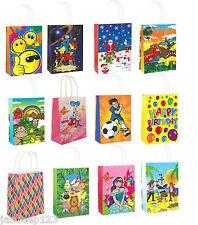 Parti cadeau sur le thème de sacs en papier poignées enfants anniversaire courses de noël 10pk