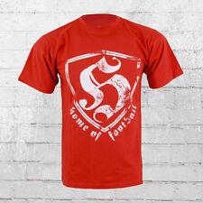 Hooligan Streetwear Männer T-Shirt HOF red Herren Shirt Men's Tee rot