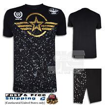 Military unit Paint Splatter Air Force Team T Shirt Urban Men s Hip Hop Fashion