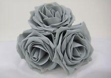 13cm Storm Grey Colourfast Display Foam Roses, Wedding Flowers, Walls, Arch