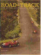 Road & Track 1958 Feb tbird bristol delage ac bmw race