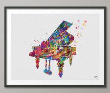 Pianoforte Acquerello Stampa Musica Strumento Wall Art Musica Pianoforte Pianista ART REGALO