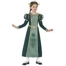 Official Shrek Girls Princess Fiona Fairytale Fancy Dress Gown Ogre Ears Costume