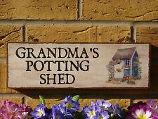 Personnalisé de cabane de jardin signe vous choisissez nom atelier signe unique cadeau