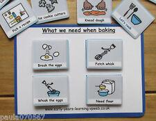 Vamos a aprender cómo cocinar Tarjetas ~ ahora próxima y más tarde ~ Pectorales ~ autismo ~ ASD ~ sen ~ las escuelas