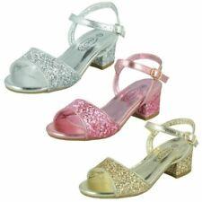 Filles Spot On Paillettes Fête Chaussures