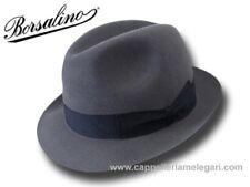 Borsalino Cappello Trilby Marengo ala 4,5 cm Grigio medio