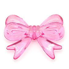 25 Ravissante grande Bow Knot Perles 30 mm x 23MM- en différentes couleurs Fast Free p&p