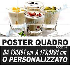 QUADRO MODERNO POSTER ARREDO ICE CREAM YOGURT GELATO FRUTTA  BAR FRUIT