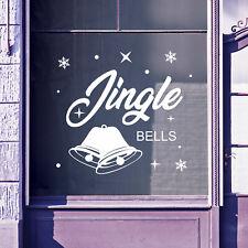 Christmas Shop Window Jingle Bells Display Xmas Wall Stickers Festive B55
