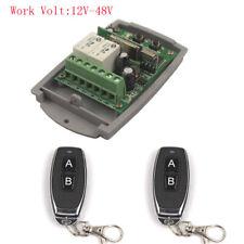 Universal 12V-48V 2CH Remote Switch Relay 24V 12V Module For Lamp Garage Door