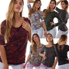 Pull femme t-shirt bohème tapestry DENTELLE dos neuf AS-6220