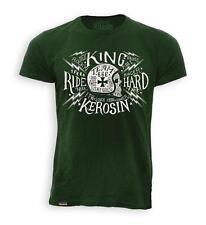 T Shirt King Kerosin Vintage Rock Skull Motorcycle no Harley Old School L - XXL