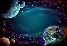 VLIES Fototapete-DIE ERDE- -Planeten Mond Galaxy Sternen Weltall Universum 1310V