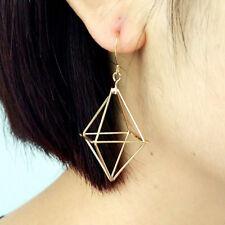 Dangle Pyramid Earrings Jewelry Drop Triangle Long Geometric Fashion Trinket BS