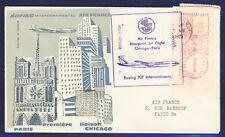 46148) Air France FF chicago AMF (Label metros!) - parís 24.4.60, sp. cover Sou