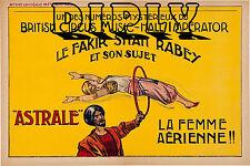 REPRO DECO AFFICHE LE FAKIR RABEY ASTRALE FEMME AERIENNE PAPIER 310 OU 190 GRS
