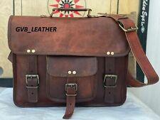 Vintage Satchel  Bag Leather Quality Hide Laptop Genuine Messenger Briefcase