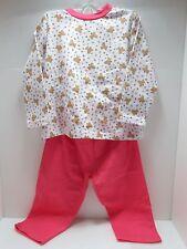 Baby Schlafanzug 2 teilig weiß / pink Mädchen Pyjama Schlafanzug versch. Größen