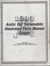 1993 ARCTIC CAT SNOWMOBILE COUGAR  ILLUSTRATED PARTS MANUAL P/N 2254-856