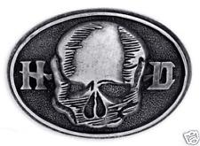 HARLEY DAVIDSON SKULL H-D BELT BUCKLE  NEW