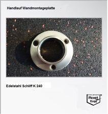 Edelstahl Handlauf Wandanschluss  Platte 42,4 VA  Abschluss Stopfen Brandneu