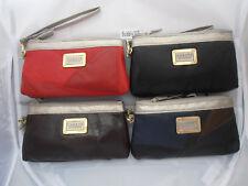 4802 Lorenz Soft Patchwork Leather 19cm Patchwork Purse Wrist Strap Twin Zip Top