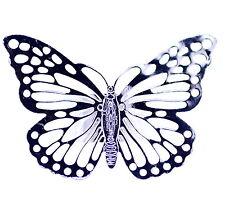Recorte del tono plata Anillo de mariposa, tamaño de Reino Unido R