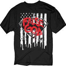 Batman VS Superman - False God Flag Graffiti Logo Adult T-Shirt - Licensed Shirt