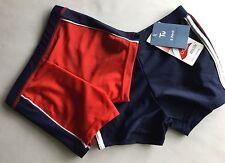 Garçons 2 pack natation trunks 1 rouge & 1 navy bue